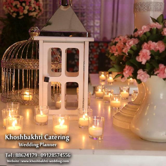 شمع و گل آرایی مراسم عروسی